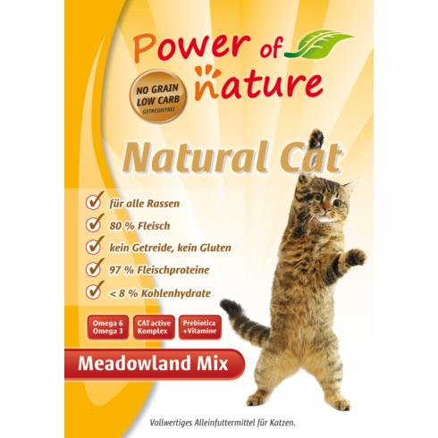 Power of Nature Natural Cat Meadowland Mix - kurczak, indyk, łosoś - 2kg