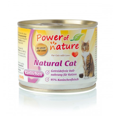 Power of Nature Natural Cat - królik 200 g