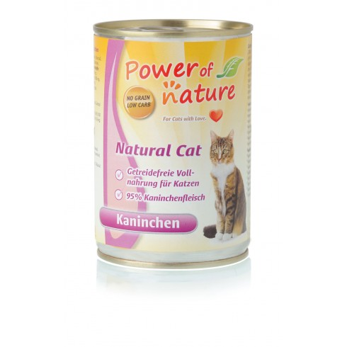Power of Nature Natural Cat - królik 400 g