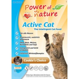 Power of Nature Active Cat Cookies Choice- kurczak i brązowy ryż 6 kg