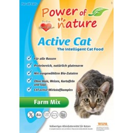 Power of Nature Active Cat Farm Mix - kurczak, łosoś, jagnięcina i brązowy ryż  6 kg