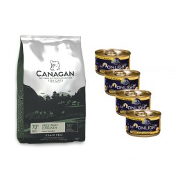 Canagan Cat Free Run Chicken 1,5 kg + 4 puszki Moonlight Dinner nr 4