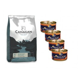 Canagan Scottish Salmon 1,5 kg+ 4 puszki Moonlight Dinner nr 1