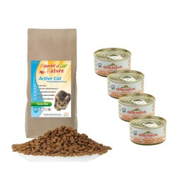 Active Natural Cat Farm Mix 2 kg + 4 puszki Almo Nature tuńczyk i krewetki 70 g