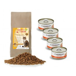 Natural Cat Fee's Favorite 2 kg + 4 puszki Canagan tuńczyk i krewetki 75 g
