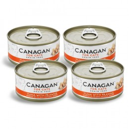 CZTEROPAK CANAGAN - Tuna with Prawns 4 x 75 g