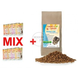 PROMOCYJNY Zestaw karm Power of Nature Farm Mix 2 kg + 8 puszek Power of Nature 400 g