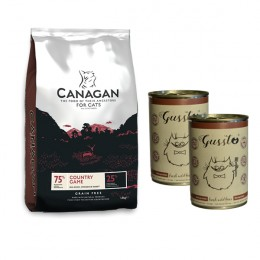 Canagan Country Game 1,5 kg+2xGussto dzik 400g