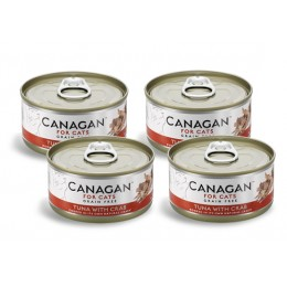 CZTEROPAK CANAGAN - Tuna with Crab 4x75 g