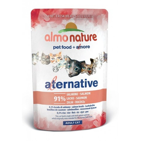 Almo Nature Alternative - łosoś saszetka 55 g