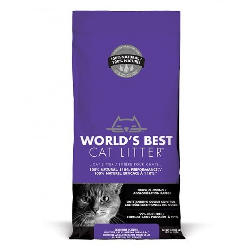 World's Best Cat Litter- żwirek kukurydziany lawendowy 3,18 kg