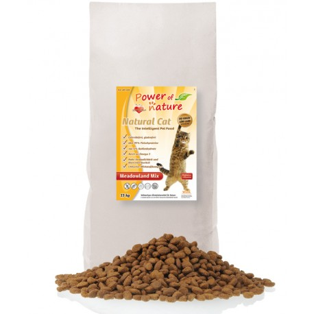 Natural Cat Meadowland Mix - 15  kg