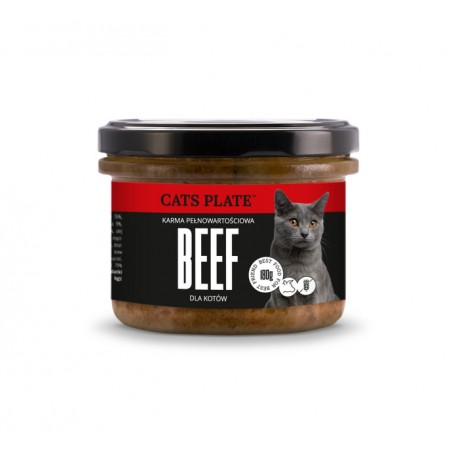 Cats Plate Beef - Wołowina, Indyk 180g