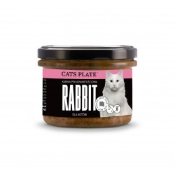 Cats Plate Rabbit - Królik, indyk 180g